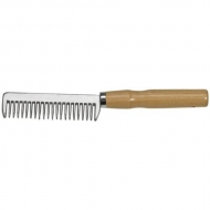 ALU comb with wooden handle
