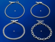 Sprenger dog collar, round links and toggle, 2 mm