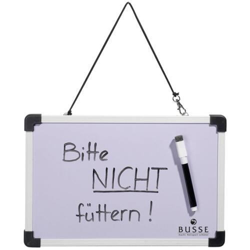 schreibtafel mit stift 30x20 wei stalltafel boxenschild schild. Black Bedroom Furniture Sets. Home Design Ideas